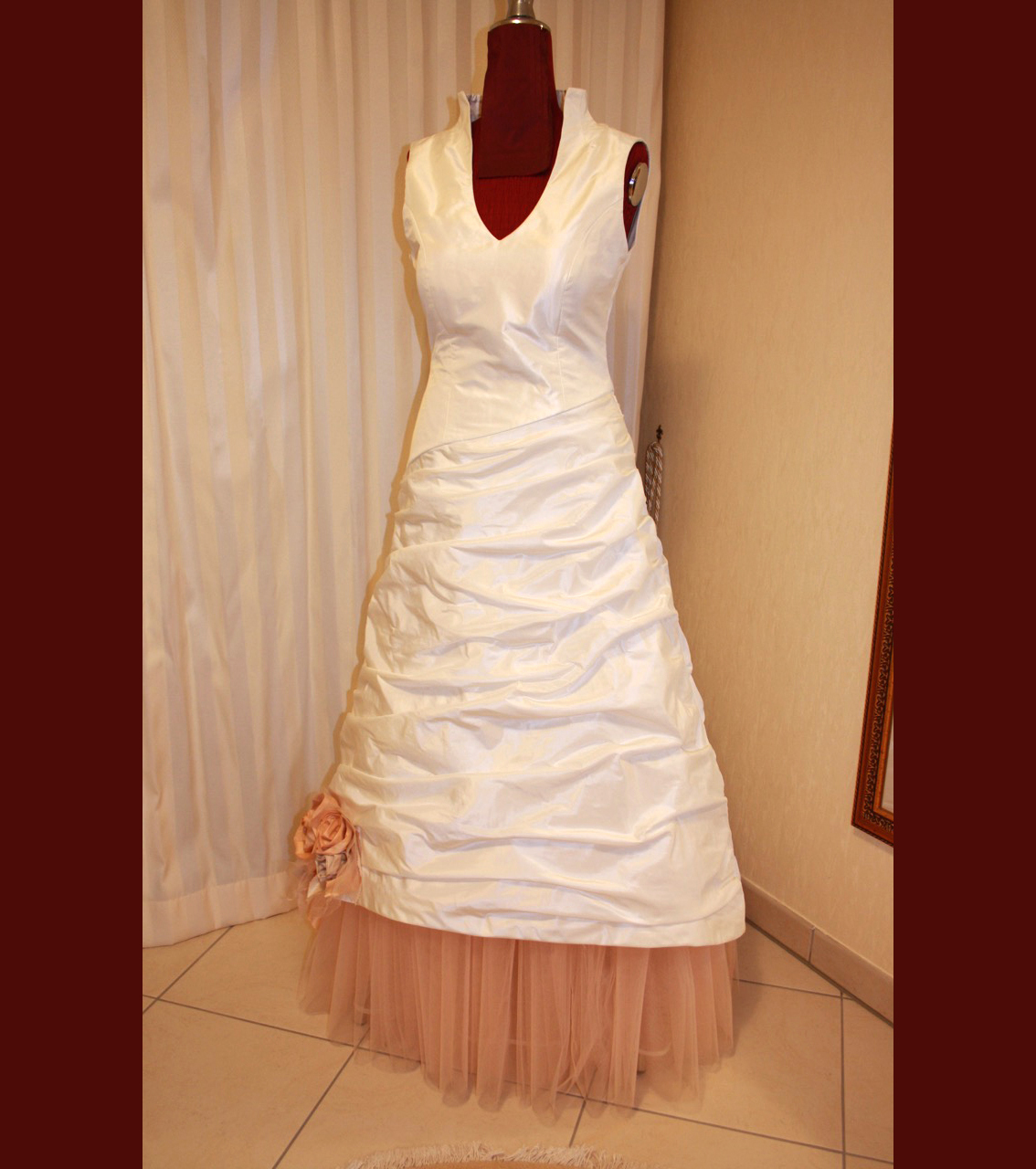 Hochzeitskleid Seide