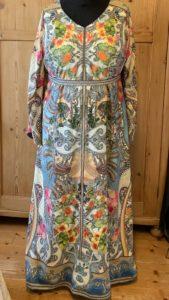 Kleid Seidenstoff bunt bedruckt