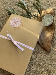Geschenkkarton für Wärmekissen Bio-Baumwolle